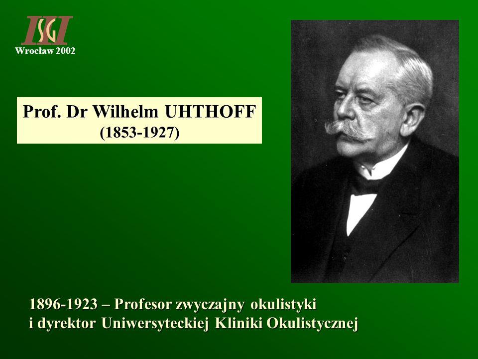Prof. Dr Wilhelm UHTHOFF