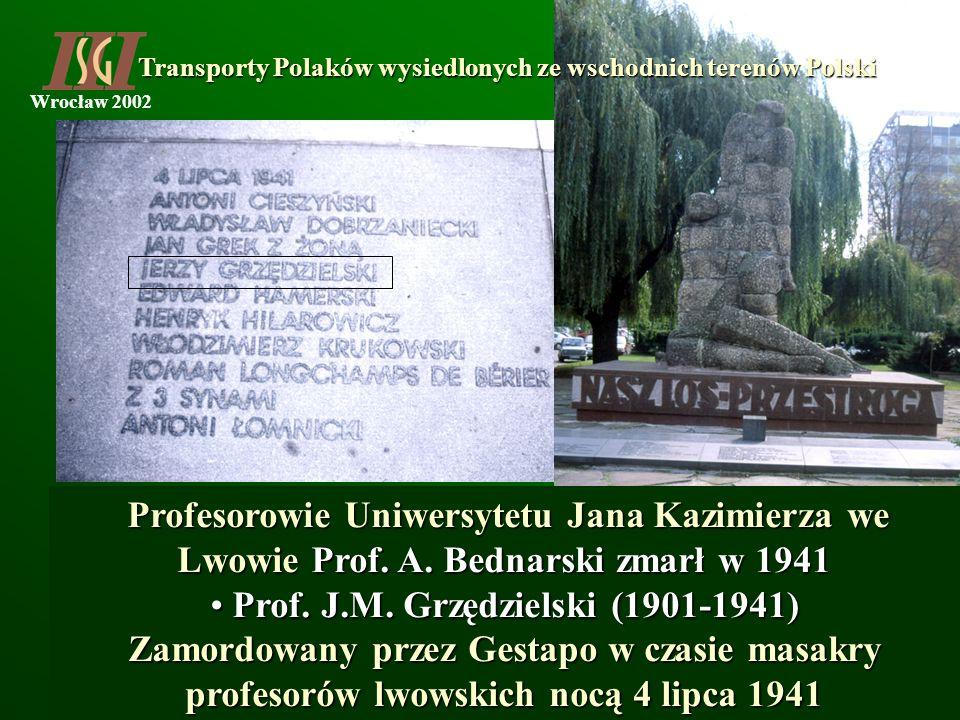 Prof. J.M. Grzędzielski (1901-1941)