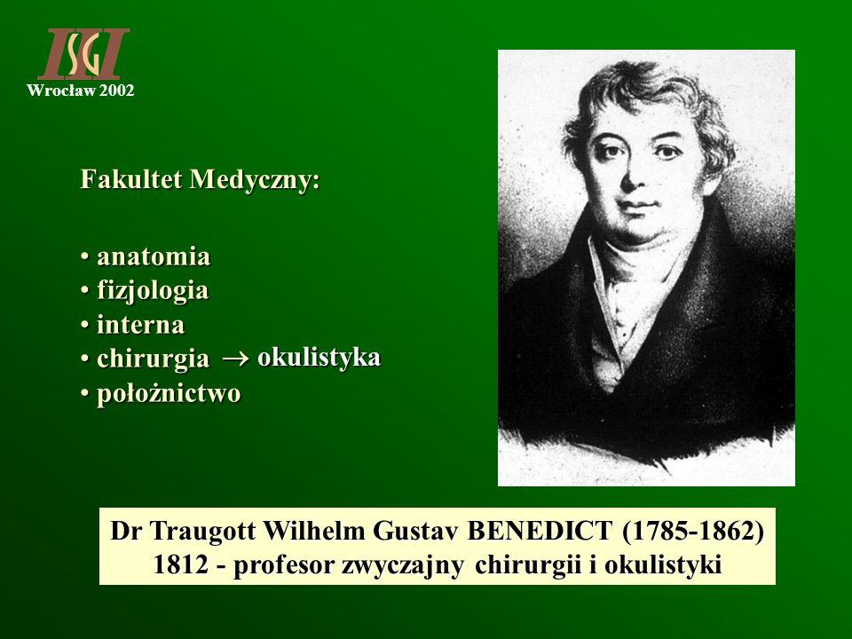 Dr Traugott Wilhelm Gustav BENEDICT (1785-1862)
