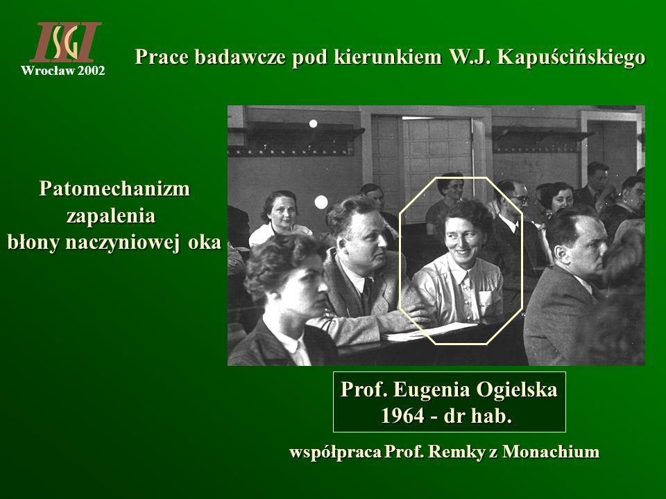 współpraca Prof. Remky z Monachium