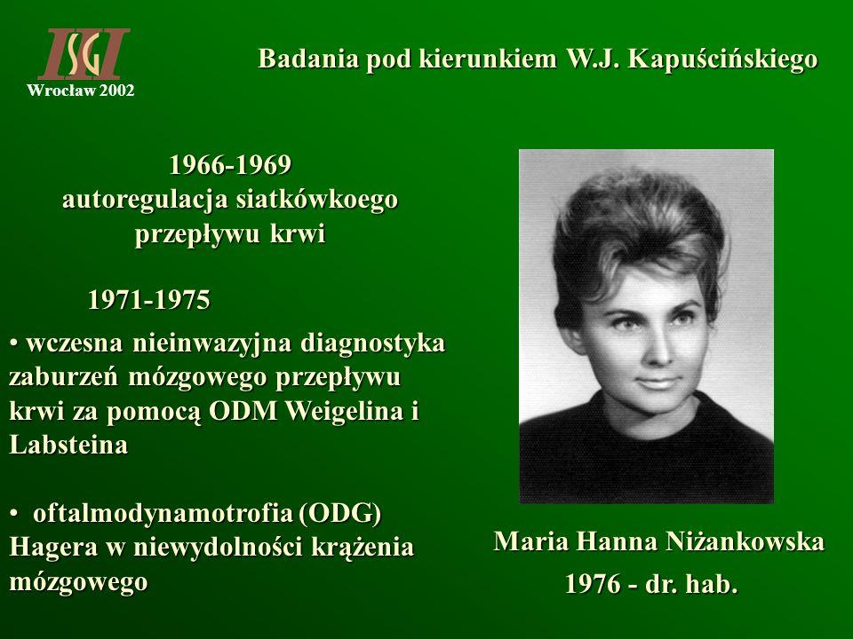 autoregulacja siatkówkoego przepływu krwi Maria Hanna Niżankowska