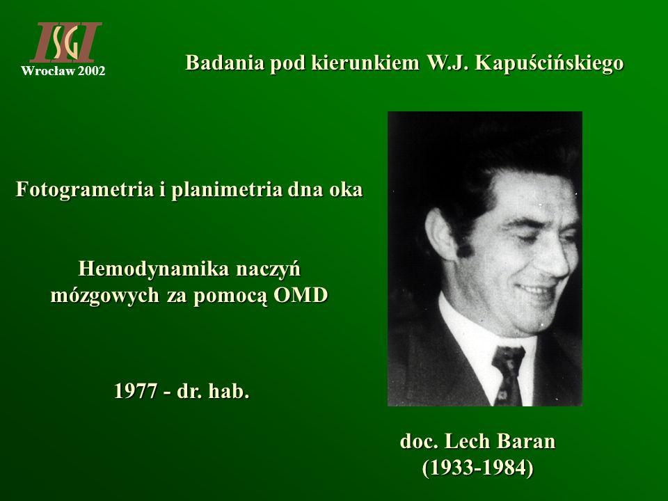 Badania pod kierunkiem W.J. Kapuścińskiego