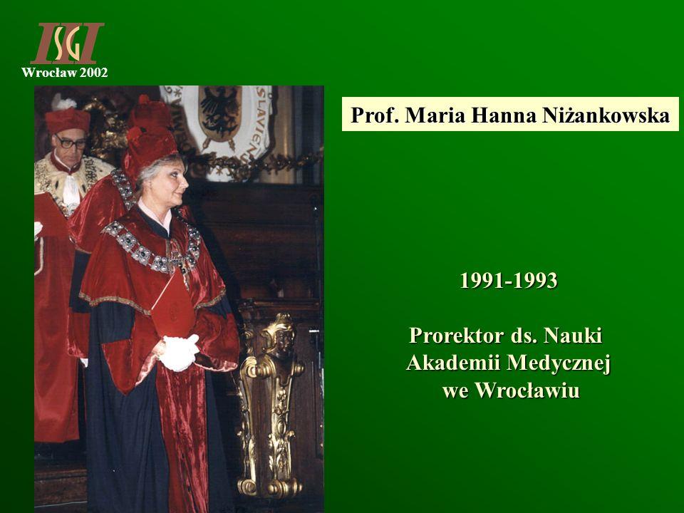 Prof. Maria Hanna Niżankowska