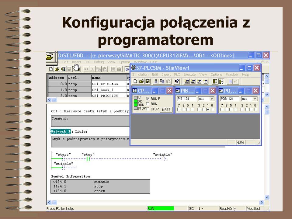 Konfiguracja połączenia z programatorem