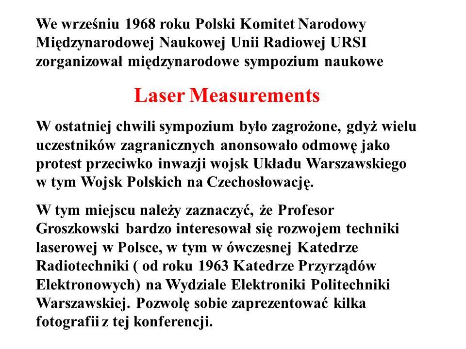 We wrześniu 1968 roku Polski Komitet Narodowy Międzynarodowej Naukowej Unii Radiowej URSI zorganizował międzynarodowe sympozium naukowe