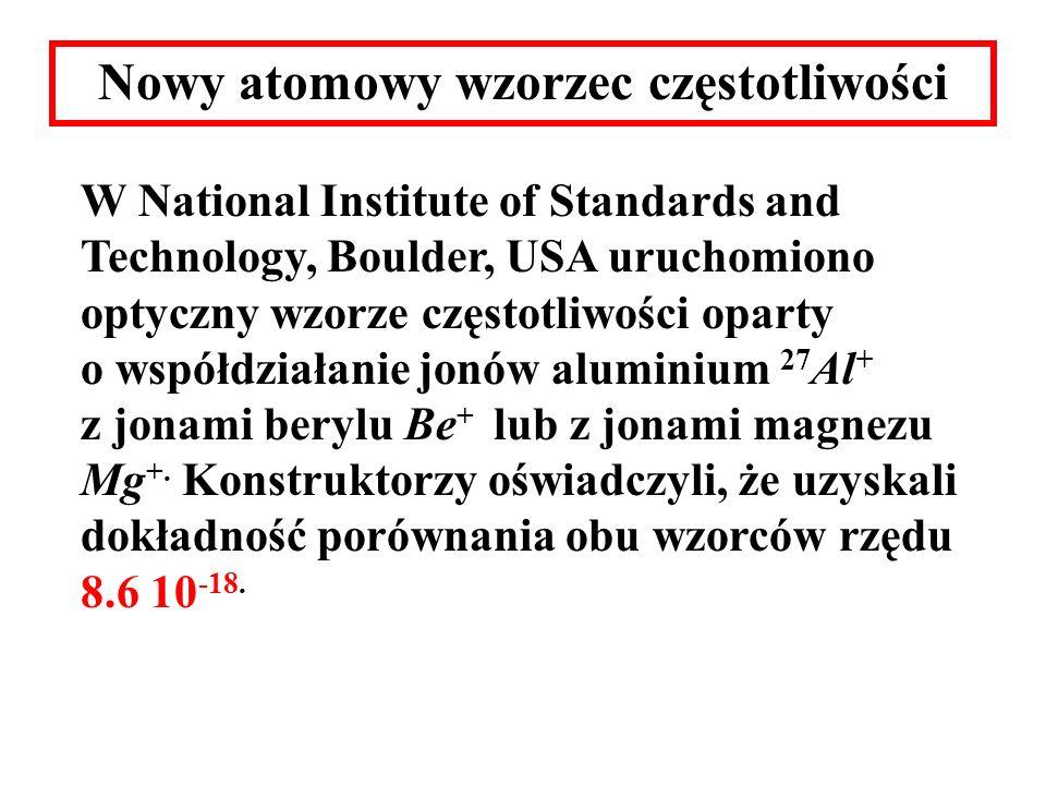 Nowy atomowy wzorzec częstotliwości