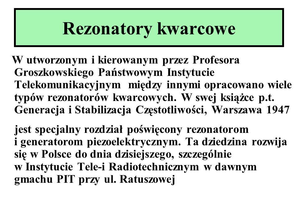 Rezonatory kwarcowe