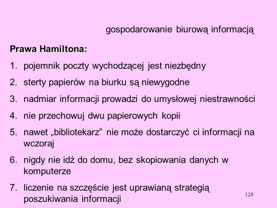 gospodarowanie biurową informacją