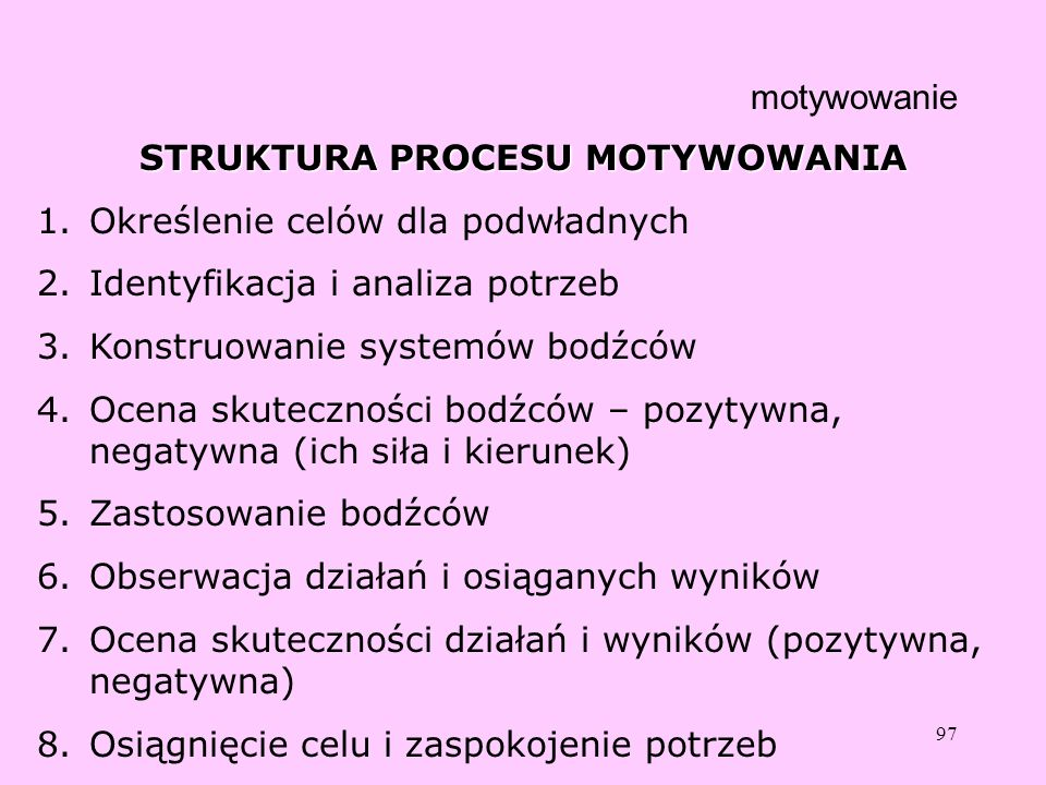 STRUKTURA PROCESU MOTYWOWANIA