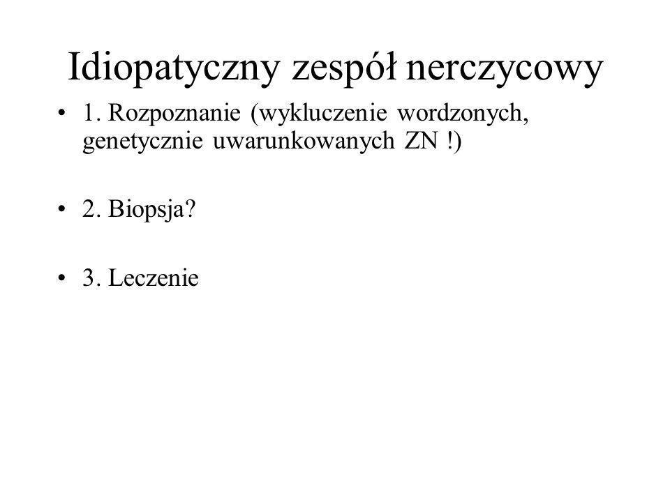 Idiopatyczny zespół nerczycowy