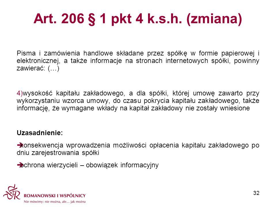 Art. 206 § 1 pkt 4 k.s.h. (zmiana)