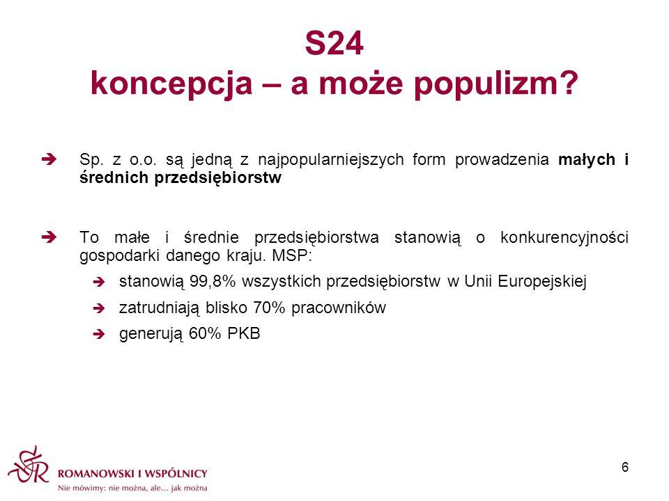 S24 koncepcja – a może populizm