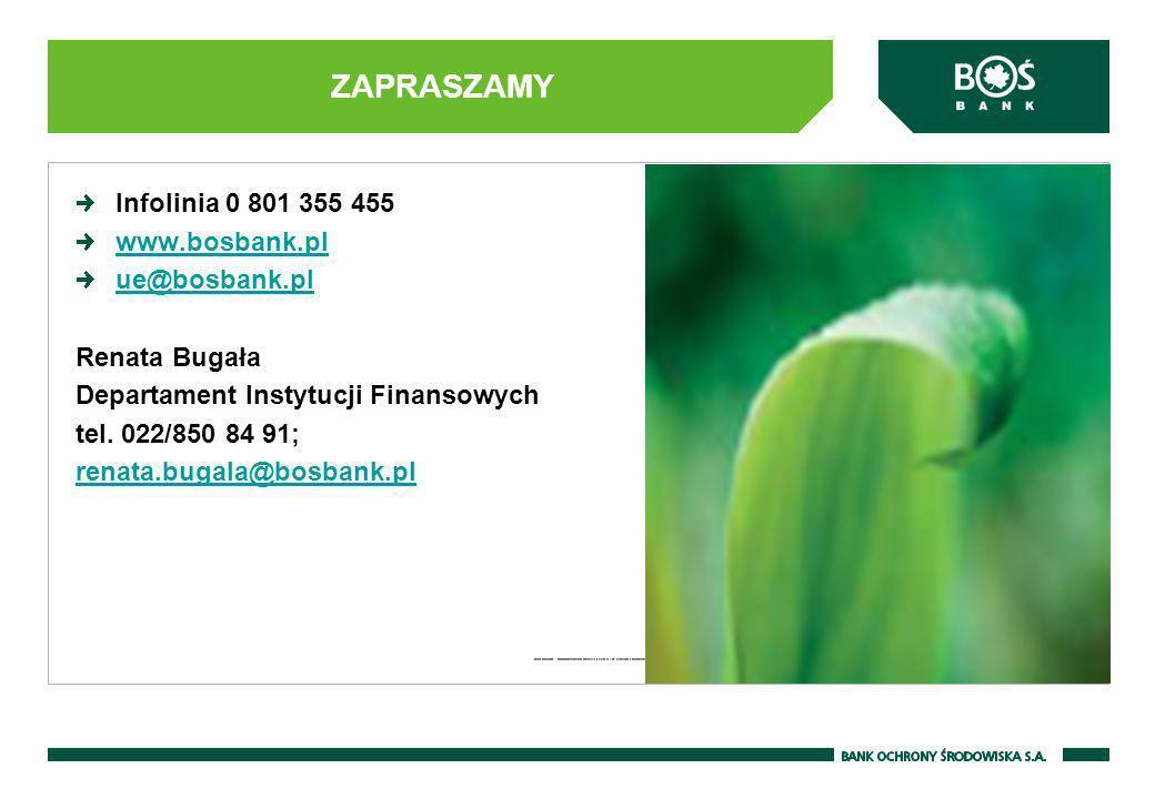 ZAPRASZAMY Infolinia 0 801 355 455 www.bosbank.pl ue@bosbank.pl