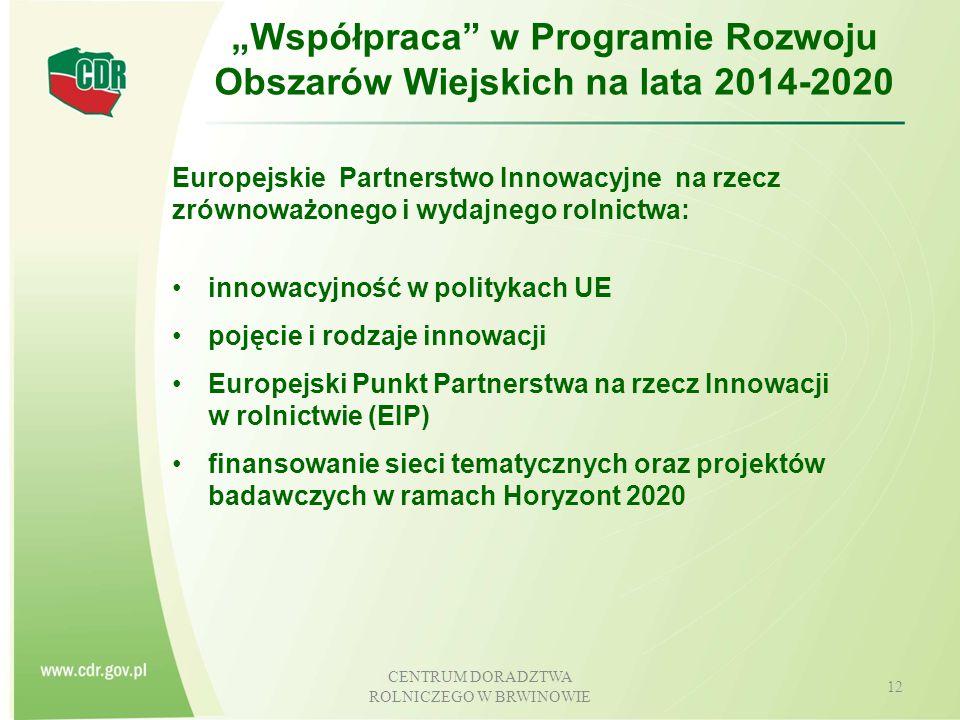 """""""Współpraca w Programie Rozwoju Obszarów Wiejskich na lata 2014-2020"""