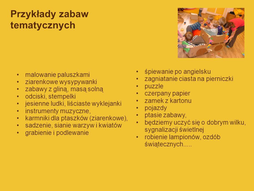 Przykłady zabaw tematycznych