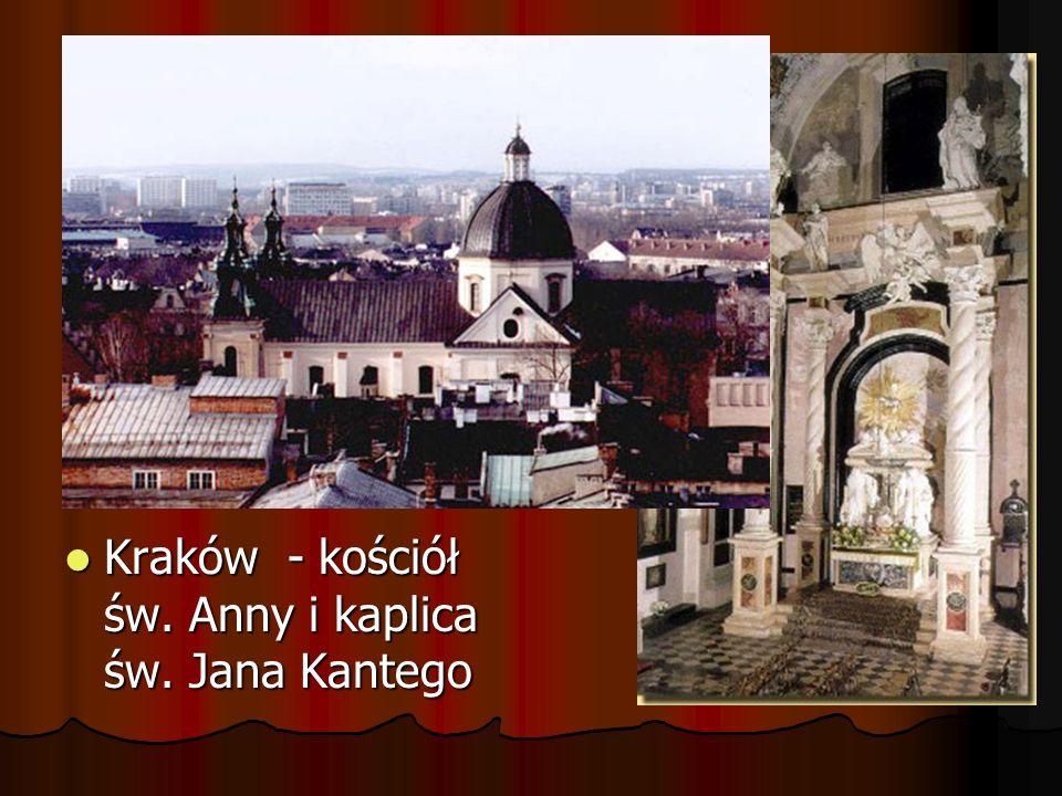 Kraków - kościół św. Anny i kaplica św. Jana Kantego