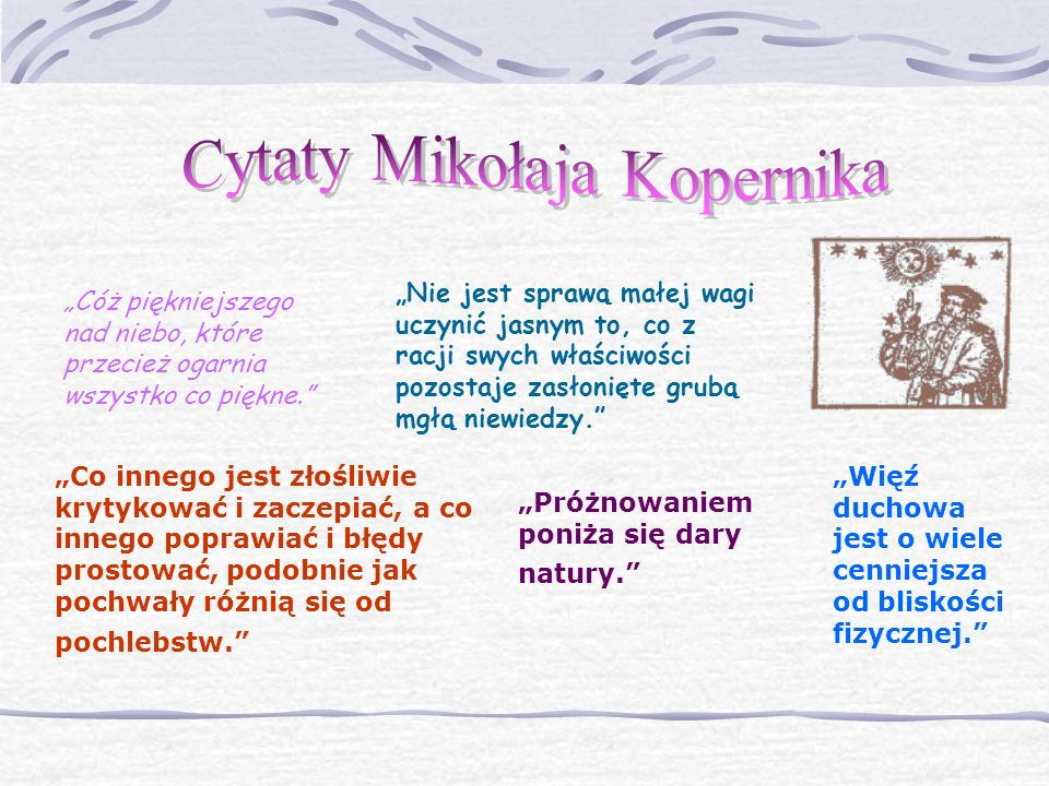 Cytaty Mikołaja Kopernika