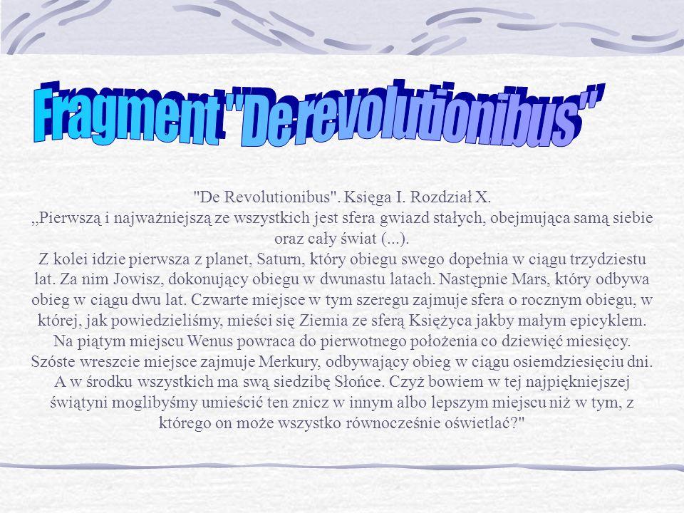 Fragment De revolutionibus