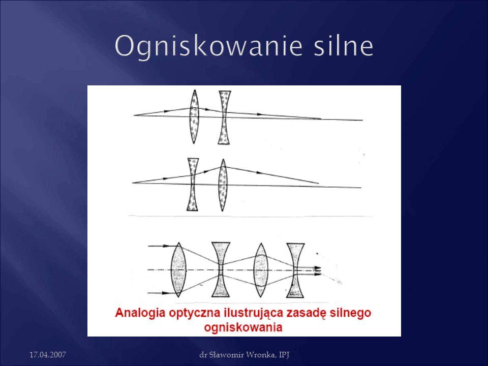 Ogniskowanie silne 17.04.2007 dr Sławomir Wronka, IPJ