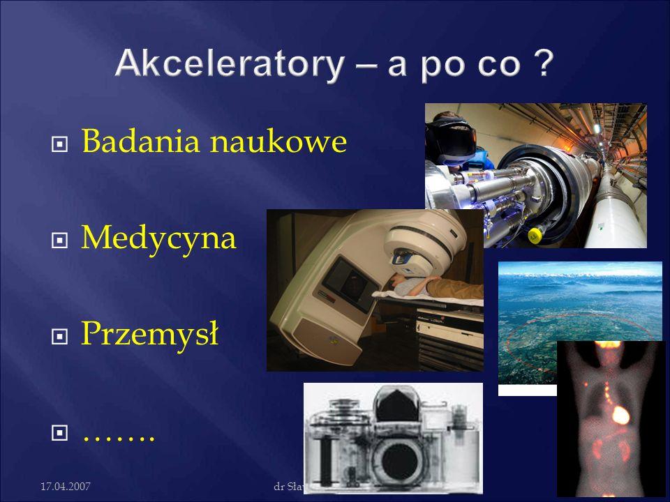 Akceleratory – a po co Badania naukowe Medycyna Przemysł …….