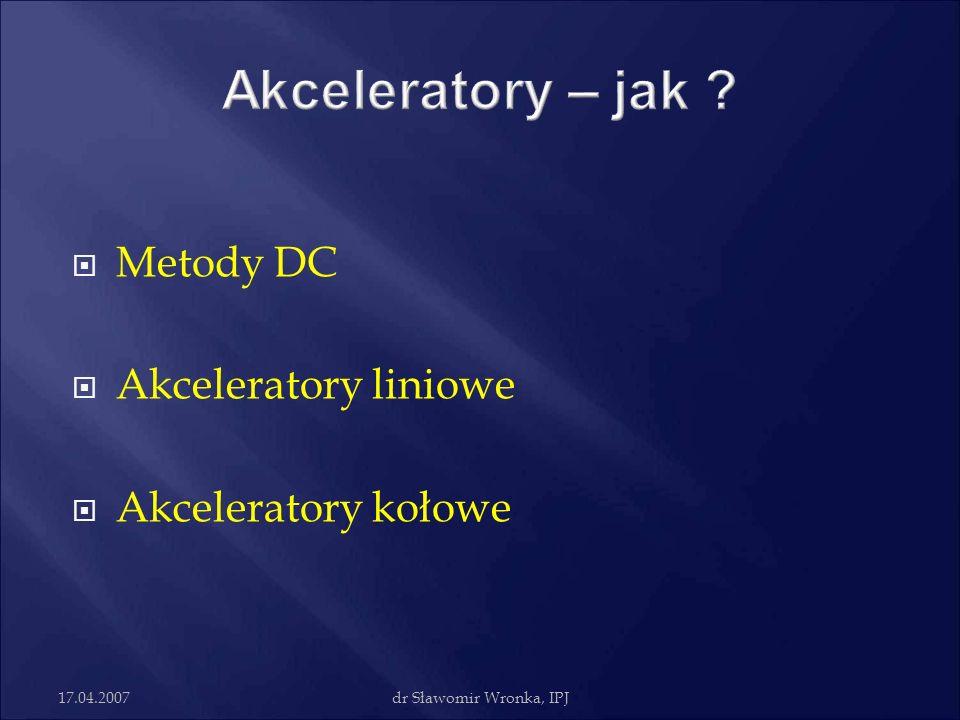 Akceleratory – jak Metody DC Akceleratory liniowe