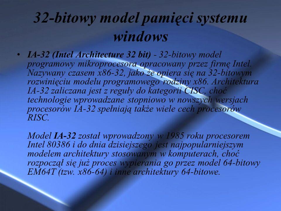 32-bitowy model pamięci systemu windows