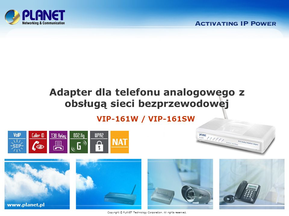 Adapter dla telefonu analogowego z obsługą sieci bezprzewodowej
