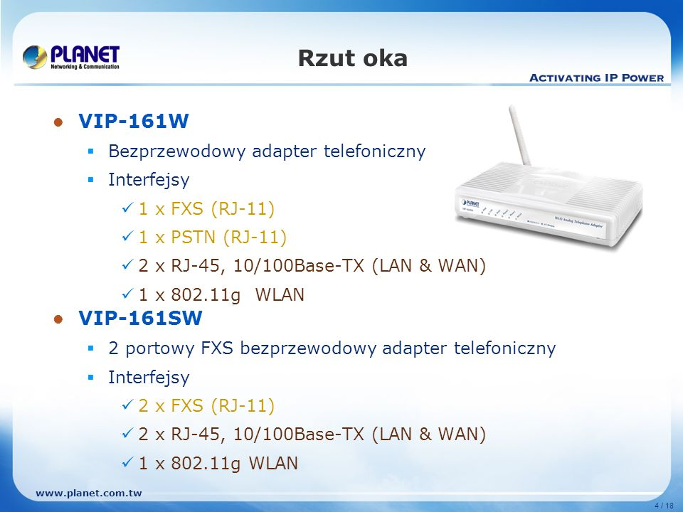 Rzut oka VIP-161W VIP-161SW Bezprzewodowy adapter telefoniczny