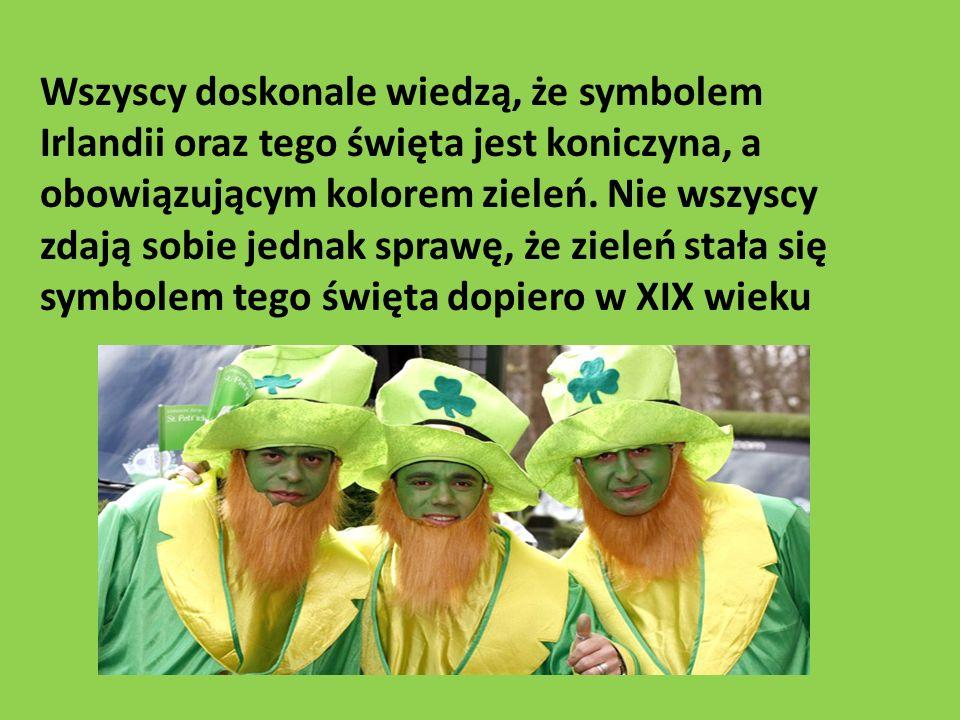 Wszyscy doskonale wiedzą, że symbolem Irlandii oraz tego święta jest koniczyna, a obowiązującym kolorem zieleń.