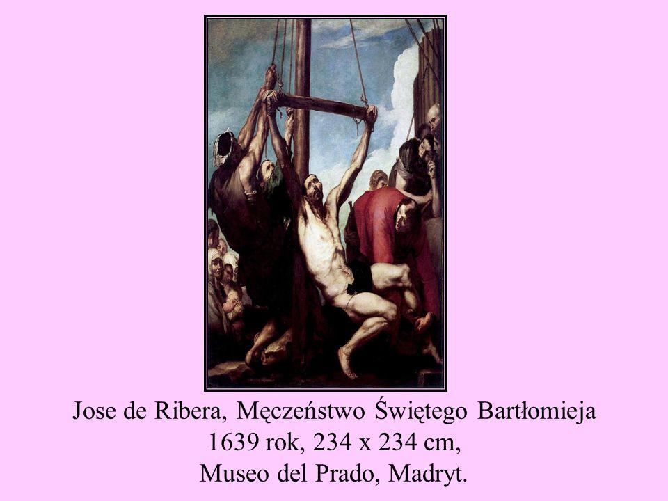 Jose de Ribera, Męczeństwo Świętego Bartłomieja 1639 rok, 234 x 234 cm, Museo del Prado, Madryt.