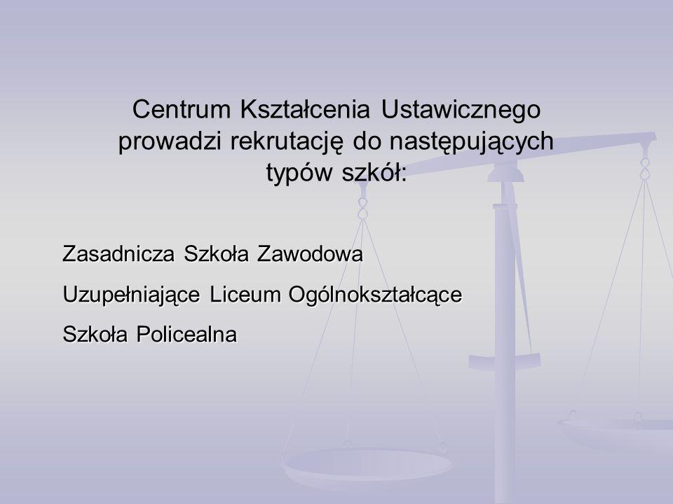 Centrum Kształcenia Ustawicznego prowadzi rekrutację do następujących
