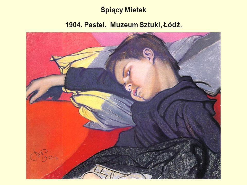 Śpiący Mietek 1904. Pastel. Muzeum Sztuki, Łódż.