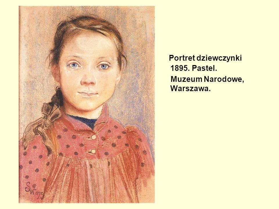 Portret dziewczynki 1895. Pastel.