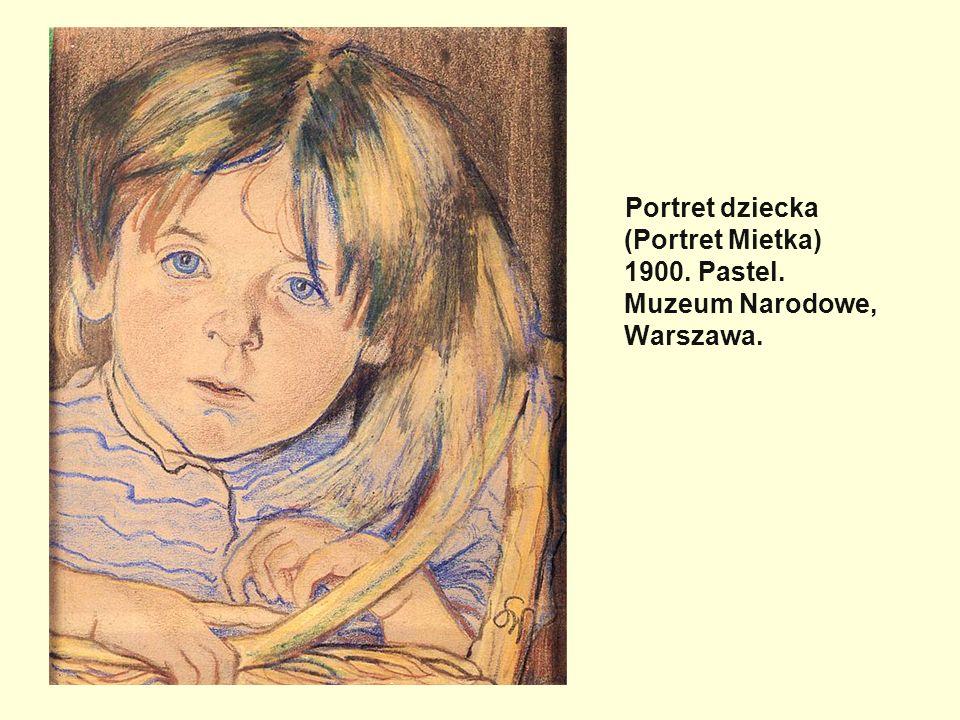 Portret dziecka (Portret Mietka) 1900. Pastel
