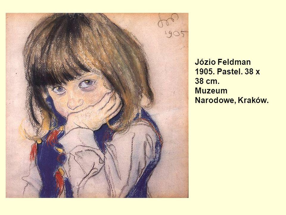 Józio Feldman 1905. Pastel. 38 x 38 cm. Muzeum Narodowe, Kraków.