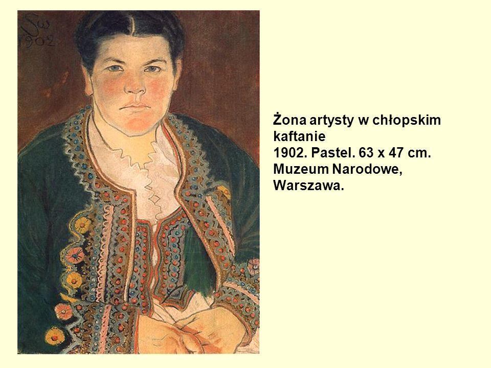 Żona artysty w chłopskim kaftanie 1902. Pastel. 63 x 47 cm
