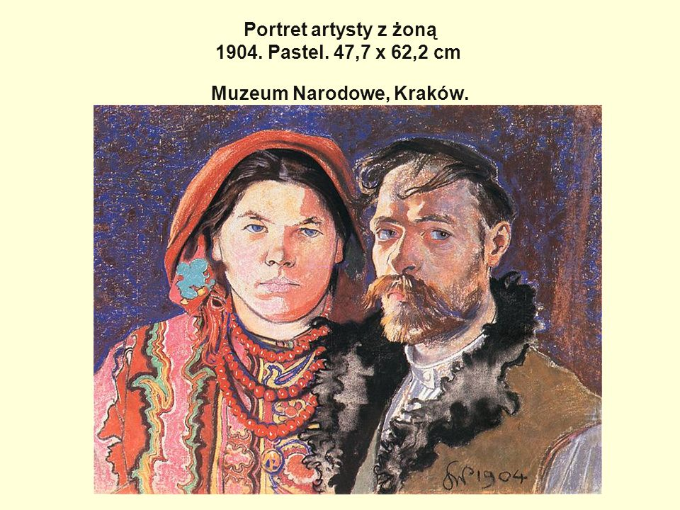 Portret artysty z żoną 1904. Pastel