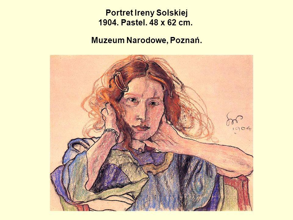 Portret Ireny Solskiej 1904. Pastel. 48 x 62 cm