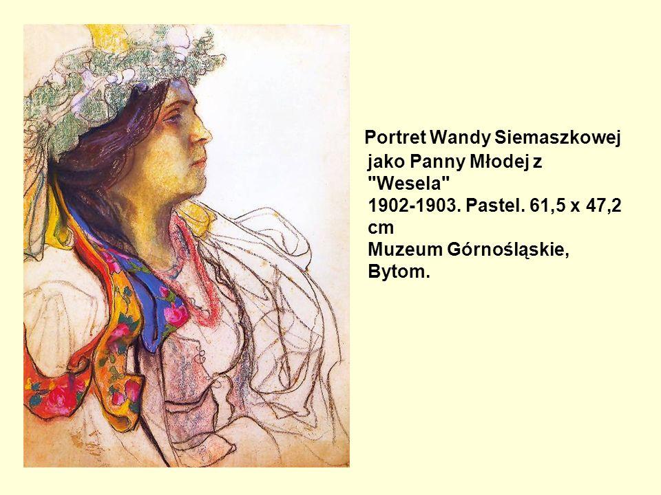 Portret Wandy Siemaszkowej jako Panny Młodej z Wesela 1902-1903