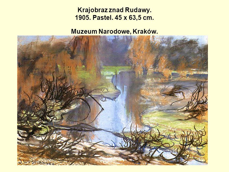 Krajobraz znad Rudawy. 1905. Pastel. 45 x 63,5 cm