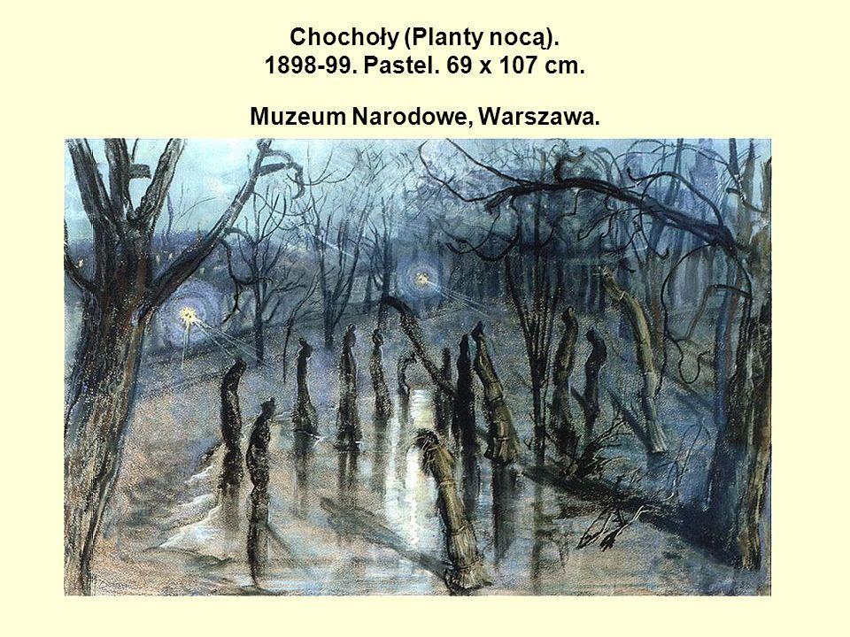 Chochoły (Planty nocą). 1898-99. Pastel. 69 x 107 cm