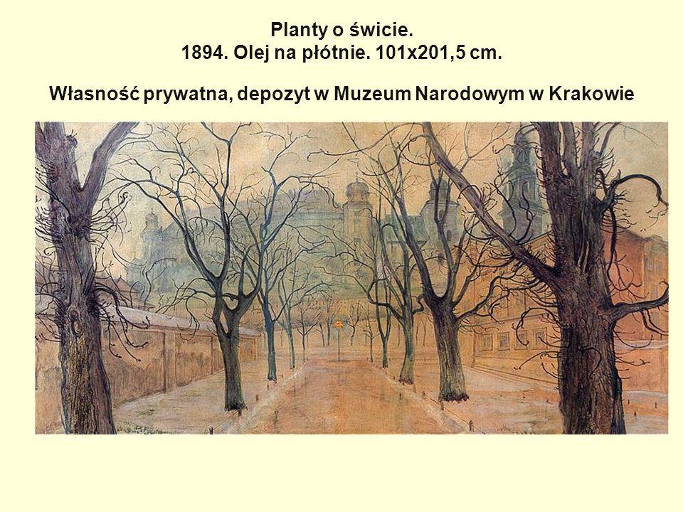 Planty o świcie. 1894. Olej na płótnie. 101x201,5 cm