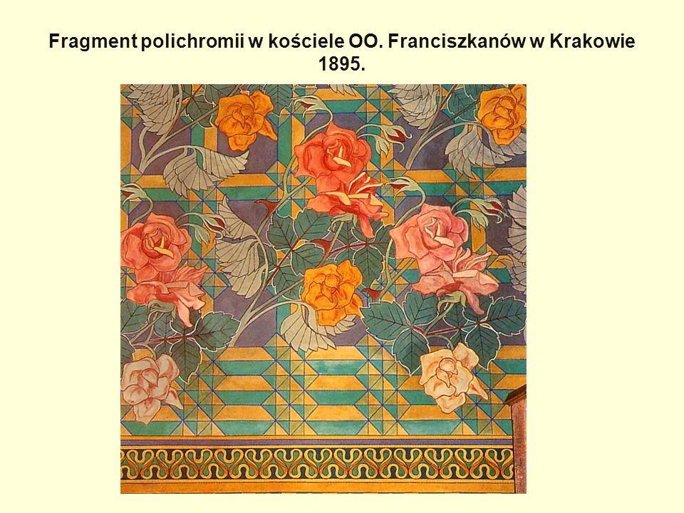 Fragment polichromii w kościele OO. Franciszkanów w Krakowie 1895.