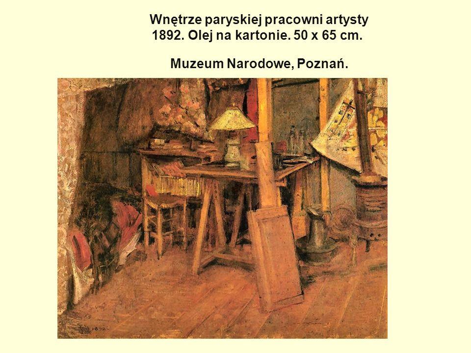 Wnętrze paryskiej pracowni artysty 1892. Olej na kartonie. 50 x 65 cm