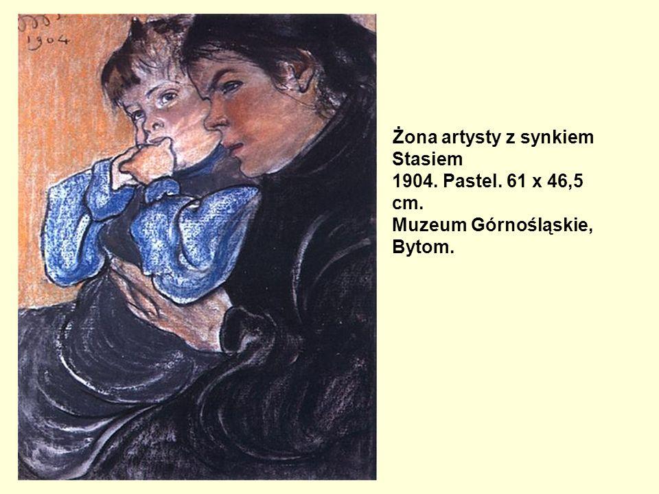 Żona artysty z synkiem Stasiem 1904. Pastel. 61 x 46,5 cm