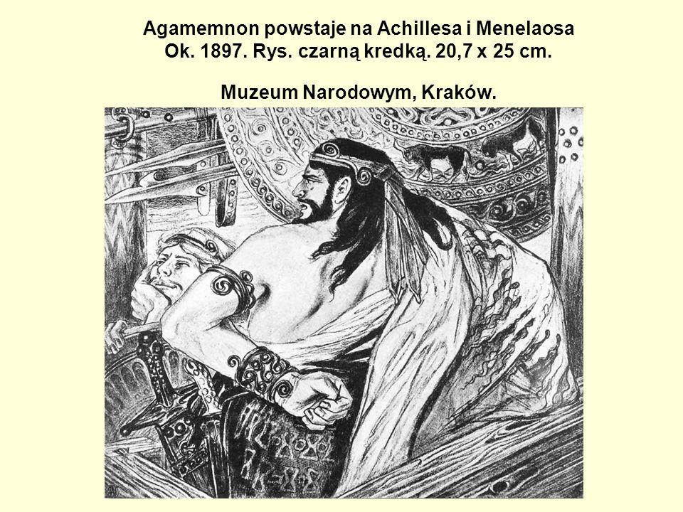 Agamemnon powstaje na Achillesa i Menelaosa Ok. 1897. Rys