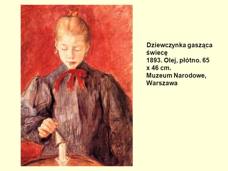Dziewczynka gasząca świecę 1893. Olej, płótno. 65 x 46 cm