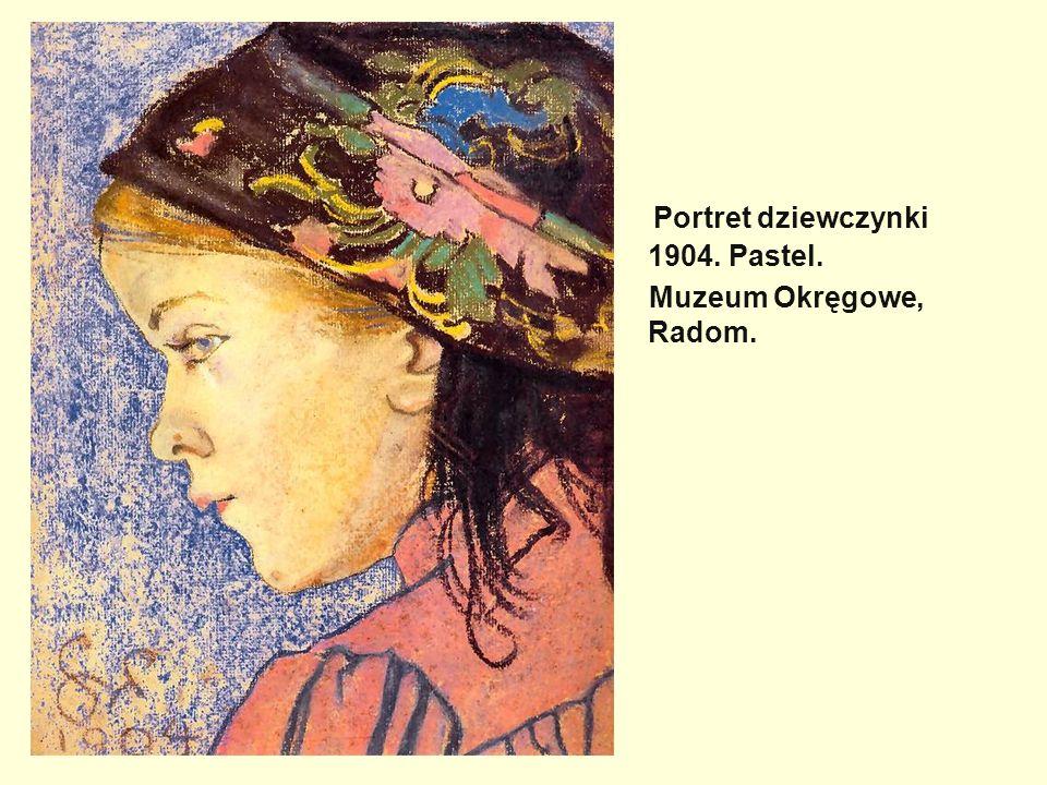 Portret dziewczynki 1904. Pastel.