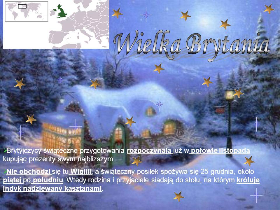 Wielka Brytania Brytyjczycy świąteczne przygotowania rozpoczynają już w połowie listopada kupując prezenty swym najbliższym.
