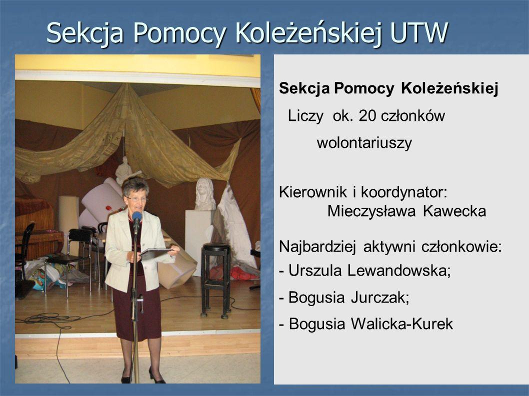 Sekcja Pomocy Koleżeńskiej UTW